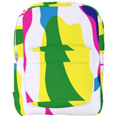 Anatomicalrainbow Wave Chevron Pink Blue Yellow Green Full Print Backpack by Mariart