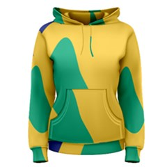 Yellow Green Blue Women s Pullover Hoodie by Mariart