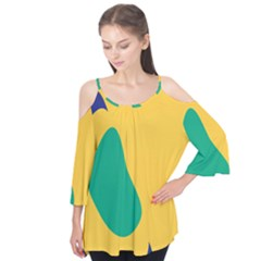 Yellow Green Blue Flutter Tees by Mariart