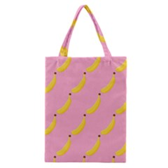 Banana Fruit Yellow Pink Classic Tote Bag by Mariart