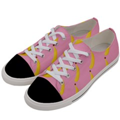 Banana Fruit Yellow Pink Women s Low Top Canvas Sneakers by Mariart