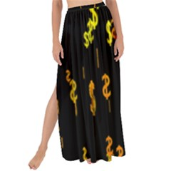 Animated Falling Spinning Shining 3d Golden Dollar Signs Against Transparent Maxi Chiffon Tie Up Sarong