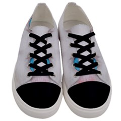 Beautiful White Face Cat Animals Blue Eye Men s Low Top Canvas Sneakers