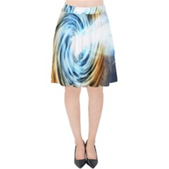 A Blazar Jet In The Middle Galaxy Appear Especially Bright Velvet High Waist Skirt by Mariart