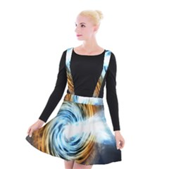 A Blazar Jet In The Middle Galaxy Appear Especially Bright Suspender Skater Skirt