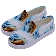 A Blazar Jet In The Middle Galaxy Appear Especially Bright Kids  Canvas Slip Ons by Mariart