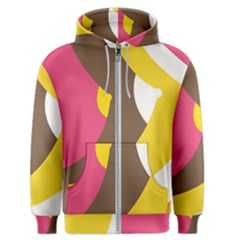 Breast Pink Brown Yellow White Rainbow Men s Zipper Hoodie by Mariart