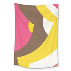 Breast Pink Brown Yellow White Rainbow Large Tapestry by Mariart