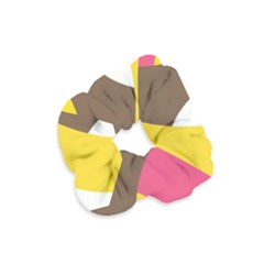 Breast Pink Brown Yellow White Rainbow Velvet Scrunchie by Mariart