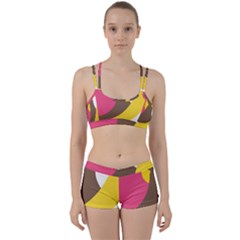 Breast Pink Brown Yellow White Rainbow Women s Sports Set