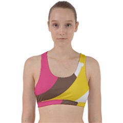 Breast Pink Brown Yellow White Rainbow Back Weave Sports Bra