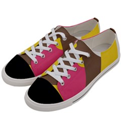 Breast Pink Brown Yellow White Rainbow Women s Low Top Canvas Sneakers by Mariart