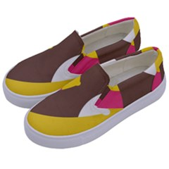 Breast Pink Brown Yellow White Rainbow Kids  Canvas Slip Ons by Mariart