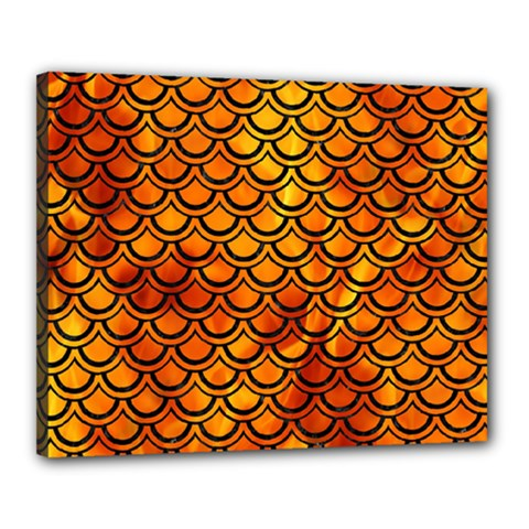 Scales2 Black Marble & Fire (r) Canvas 20  X 16  by trendistuff