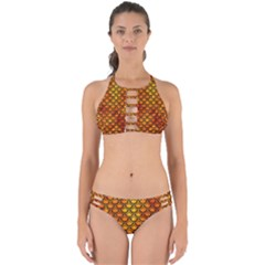 Scales2 Black Marble & Fire (r) Perfectly Cut Out Bikini Set