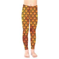 Scales2 Black Marble & Fire (r) Kids  Legging