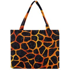 Skin1 Black Marble & Fire (r) Mini Tote Bag by trendistuff