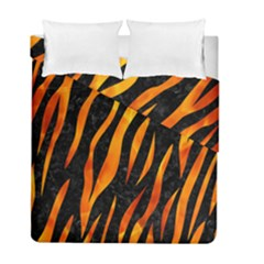 Skin3 Black Marble & Fire Duvet Cover Double Side (full/ Double Size) by trendistuff
