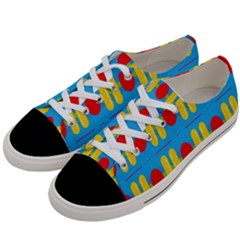 Ovals And Stripes Pattern                      Women s Low Top Canvas Sneakers by LalyLauraFLM
