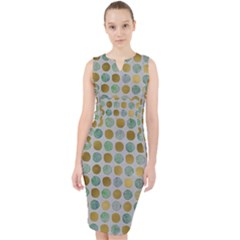 Green And Golden Dots Pattern                              Midi Bodycon Dress