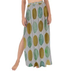 Green And Golden Dots Pattern                          Maxi Chiffon Tie-up Sarong by LalyLauraFLM