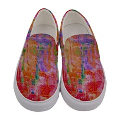 Colorful Watercolors Pattern                       Women Canvas Slip Ons