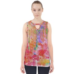 Colorful Watercolors Pattern                            Cut Out Tank Top