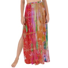 Colorful Watercolors Pattern                          Maxi Chiffon Tie-up Sarong by LalyLauraFLM