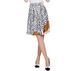 Animals Bird Owl Pink Polka Dots A Line Skirt by Mariart