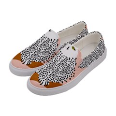 Animals Bird Owl Pink Polka Dots Women s Canvas Slip Ons by Mariart