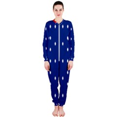 British American Flag Red Blue Star Onepiece Jumpsuit (ladies)  by Mariart
