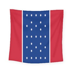 British American Flag Red Blue Star Square Tapestry (small) by Mariart