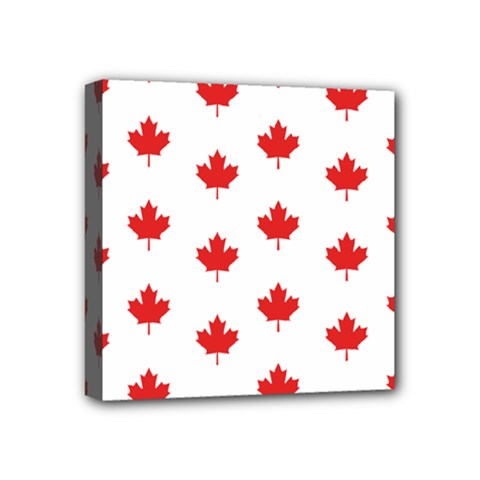 Canadian Maple Leaf Pattern Mini Canvas 4  X 4