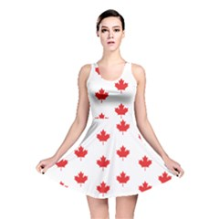 Canadian Maple Leaf Pattern Reversible Skater Dress by Mariart