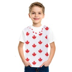 Canadian Maple Leaf Pattern Kids  Sportswear by Mariart