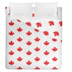 Canadian Maple Leaf Pattern Duvet Cover Double Side (queen Size) by Mariart