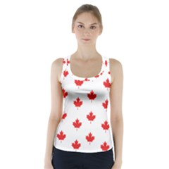Canadian Maple Leaf Pattern Racer Back Sports Top by Mariart