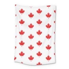 Canadian Maple Leaf Pattern Small Tapestry by Mariart