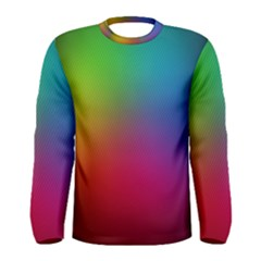 Bright Lines Resolution Image Wallpaper Rainbow Men s Long Sleeve Tee