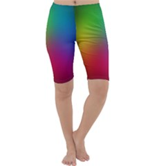 Bright Lines Resolution Image Wallpaper Rainbow Cropped Leggings  by Mariart