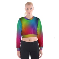 Bright Lines Resolution Image Wallpaper Rainbow Cropped Sweatshirt by Mariart