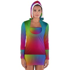 Bright Lines Resolution Image Wallpaper Rainbow Long Sleeve Hooded T Shirt by Mariart