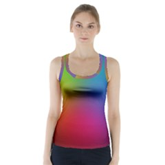 Bright Lines Resolution Image Wallpaper Rainbow Racer Back Sports Top
