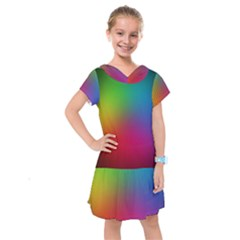 Bright Lines Resolution Image Wallpaper Rainbow Kids  Drop Waist Dress