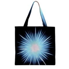 Bright Light On Black Background Zipper Grocery Tote Bag by Mariart