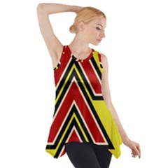 Chevron Symbols Multiple Large Red Yellow Side Drop Tank Tunic by Mariart