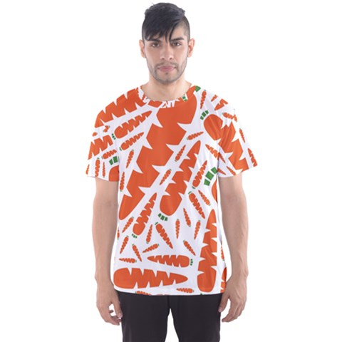 Carrots Fruit Vegetable Orange Men s Sports Mesh Tee by Mariart