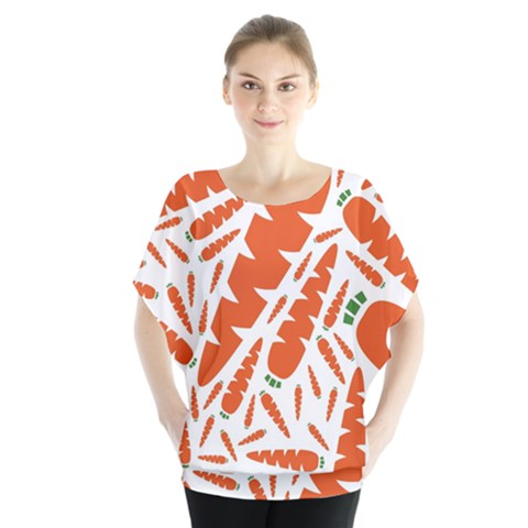 Carrots Fruit Vegetable Orange Blouse by Mariart