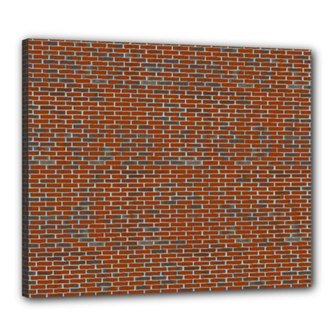 Brick Wall Brown Line Canvas 24  X 20  by Mariart
