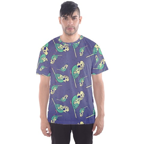 Canaries Budgie Pattern Bird Animals Cute Men s Sports Mesh Tee by Mariart
